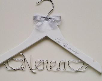 Baptism / Christening Hanger Gift -Personalized & Custom for Child, Baby, or Toddler - Small Hanger for Flower Girl
