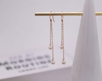 Freshwater Pearl Earrings on 14k gold-filled