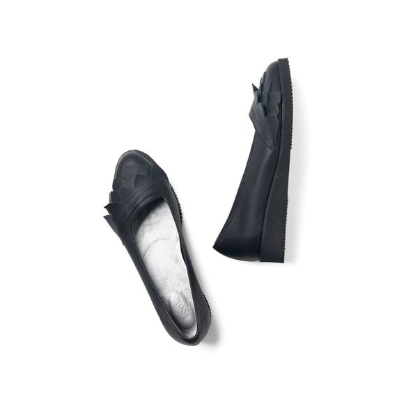 platform cm leather shoes 3 with comfort Black women and soft handmade fnWZSqICx