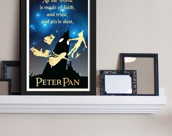 All The World - Peter Pan / Disney Inspired - Movie Art Poster