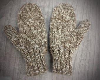 Childs alpaca mittens,5-7 yr old,100% Alpaca hand knit mittens,Childs mittens,alpaca mittens,mittens,hand knit,classic knit alpaca  mittens