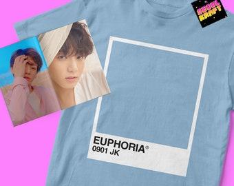 방탄소년단 BTS Jungkook Euphoria Pantone Card Unisex Kpop Shirt | bts kpop | bts | bts shirt