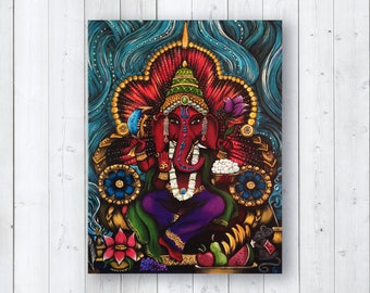 Original Painting Ganesh / Ganesha by Cat Paschal Dolch