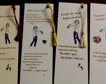 WINE BOOKMARKS / WHIMSICAL Foodie Humor/ The Queen /Ideal Gift Giving