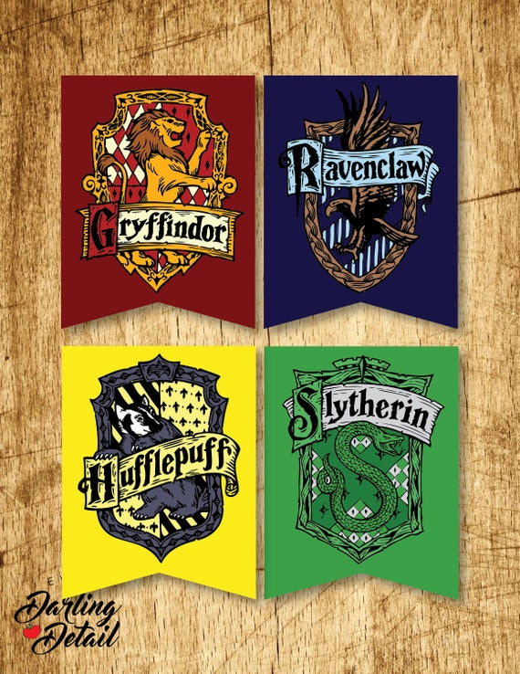 Candid image within harry potter house banners printable