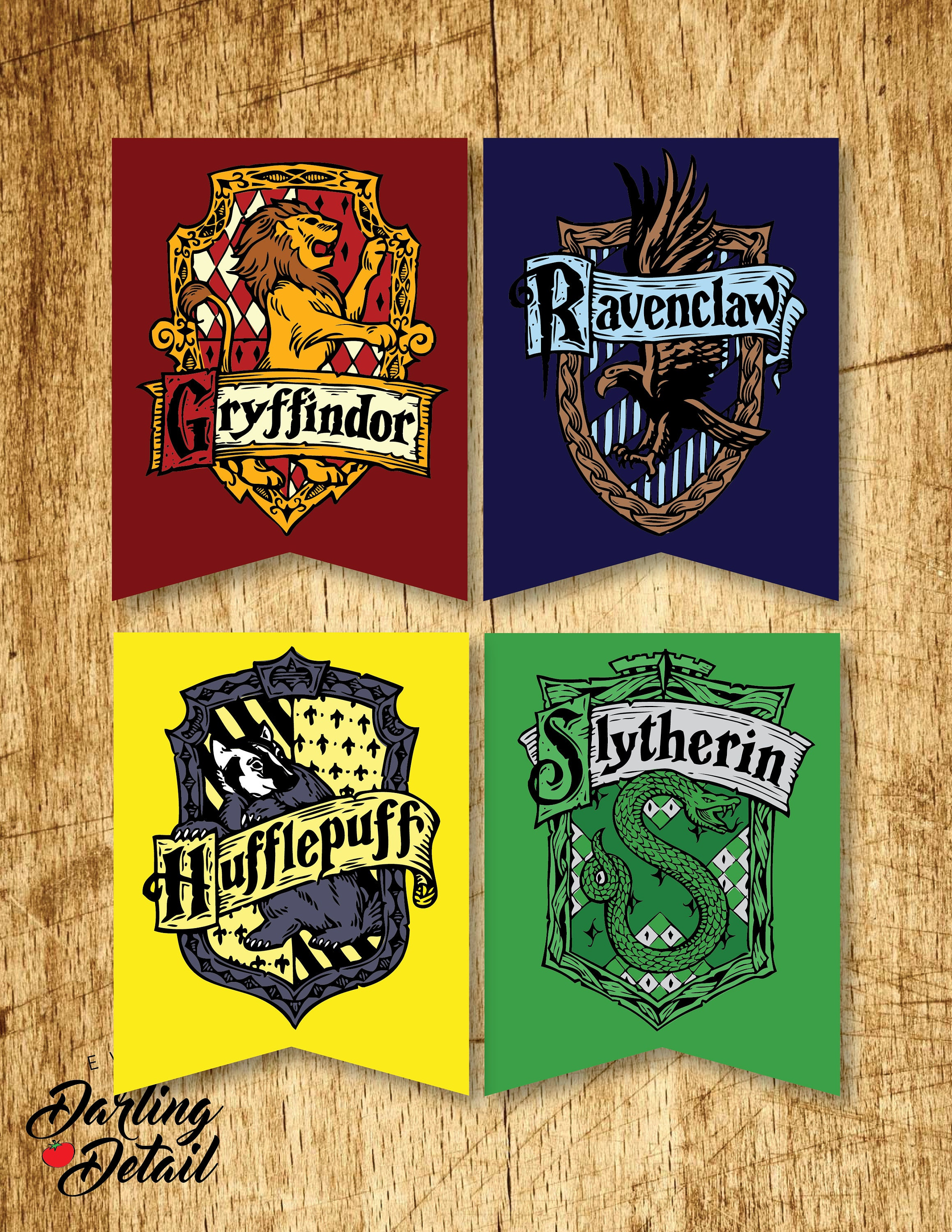 Soft image within printable hogwarts house crests