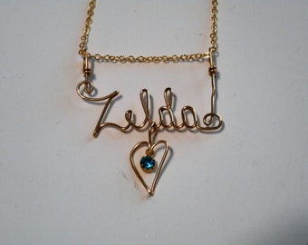 necklaces plate diamond sterling necklace c v zales accent names beaded name in chains and gold silver cursive