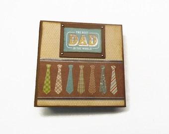 Father's Day mini album,  Dad premade scrapbook,