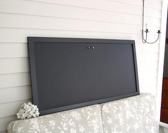 "HUGE Magnetic Chalkboard - Black Restaurant Menu Board - 22 x 50"" Office Bulletin Board for Home or Corporate Office Conference Room"