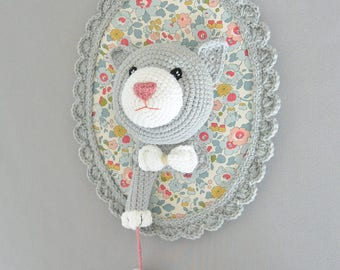 Trophy cat and mouse handmade