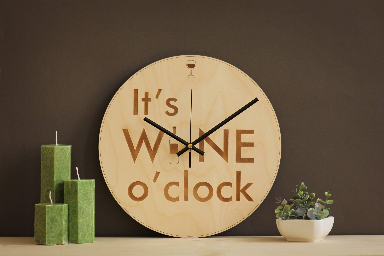 It\'s wine o\'clock / Wine clock / Wine lovers gift /