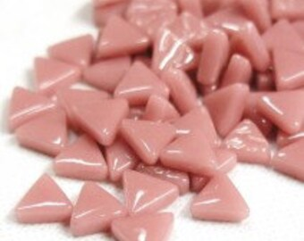 MINI Rose Pink Triangle Shaped Mosaic Tiles 10mm//Recycled Glass Tiles//Mosaic Supplies//Jewelry Supplies//Mosaics