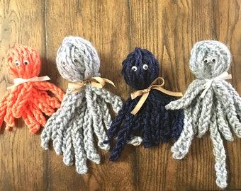 Plush Finger Knit Octopus Toy