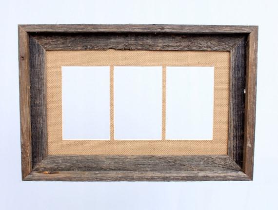 Barnwood 4x6 Signature Picture Frame Burlap Mat 3