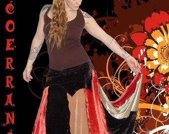 Long skirt patchwork 'Velvet Patch'...