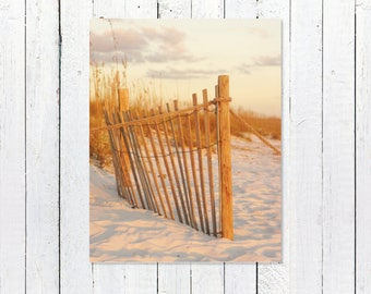 Beach Wall Art Print | Beach Fence | Nature Photography Prints | Beach House Decor Prints | Beach Scene | Beach Nursery Home Bathroom Decor