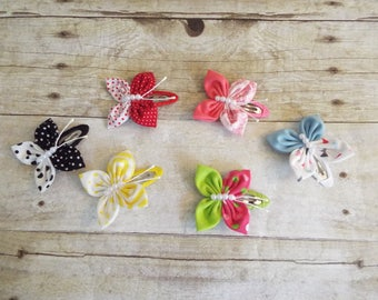 Hair clip butterfly, hair accessories, baby hair clip, girls hair accessories,  butterfly baby hair clip - set of two