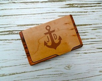 Custom business card holder personalized business card custom anchor business card holder engraved personalized business card holder work corporate graduation fathers day groomsmannew job colourmoves