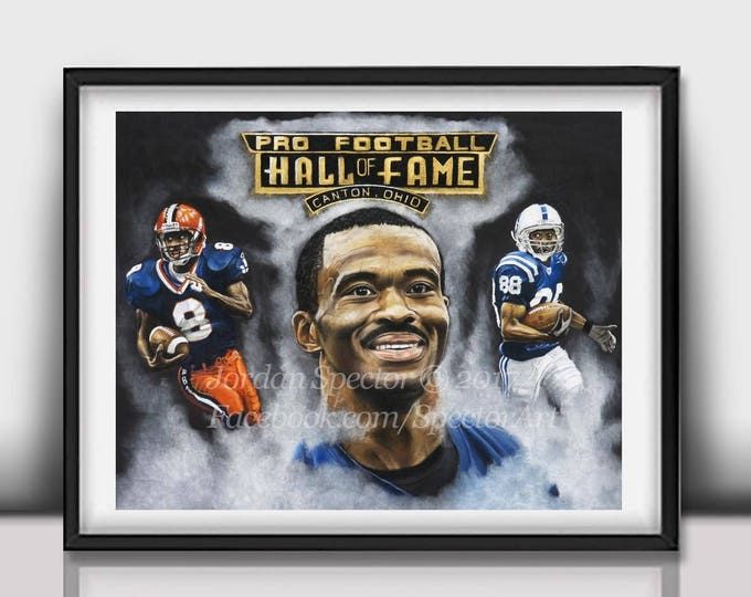 """Marvin Harrison """"Colts Finest"""" Limited Edition art print - 20x24 inches"""