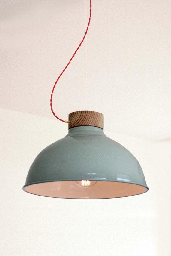 VERDREHTE Lampe-hängende Lampe original Grünton industrielle