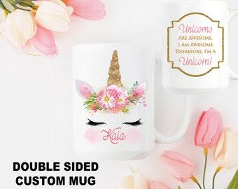 Personalized Unicorn Mug Personalized Mug Unicorn Coffee Mug Custom Unicorn Gift Custom Name Coffee Mug Custom Coffee Mug Unicorn Gift for