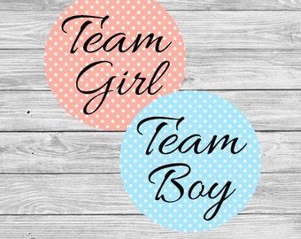 Gender Prediction, Gender Reveal Ideas, Gender Reveal Party Stickers, Team Pink, Team Blue, Gender Announcement, Gender Guessing Game, GR01