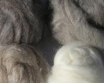 50/25/25 Wool/Mohair/Angora Roving