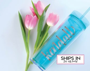 Bridal Shower Gifts, Bridesmaid Gifts, Personalized Tumbler, Monogrammed Tumbler, Bridesmaid Tumblers, Skinny Tumblers, Wedding Party Favor
