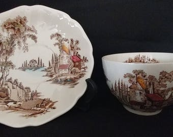 Johnson Bros The Old Mill Cup & Saucer