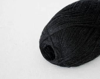 Yarn knitting, Cobweb dark grey color merino wool yarn - haapsalu shawl yarn