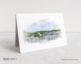 James River, Pony Pasture Notecard - nature photography, stationery, Virginia notecard, Richmond, VA, blank notecard, greeting card