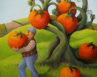 The Harvest (Original painting SOLD) - print available