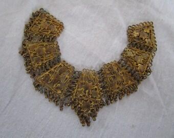 Antique Filigree Brass Jewelry Adornment Pendant
