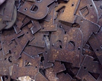 Metal Rustic Letters - ORDER as many letters as you need - 2 inch