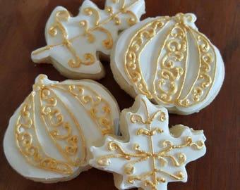 Gold Fall Sugar Cookies