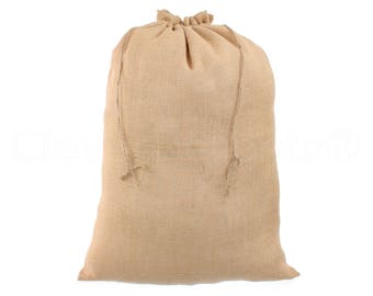 "2 Pack - 18"" x 24"" Burlap Bags - Natural Eco-Friendly Burlap Bags with Jute Drawstring - Weddings Parties Decor - Large Gunny Sack - 18x24"