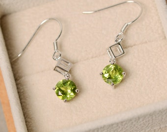 Peridot earrings, peridot studs