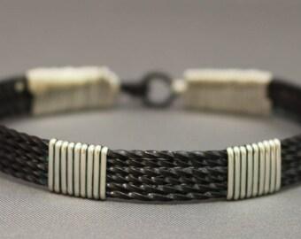 Wire Wrapped Oxidized Bangle