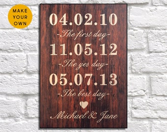 Personalised Wedding gift for Bridal shower gift Wedding decor Wedding gift for Couple gift for Women gift for Her Panel effect Wedding sign