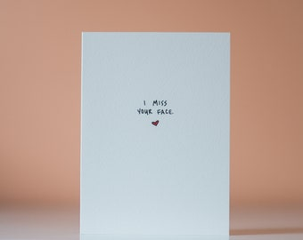 I Miss Your Face (And Your Butt) - Greeting Card - Love Card - Missing You Card - Relationship Card - Girlfriend Boyfriend Card
