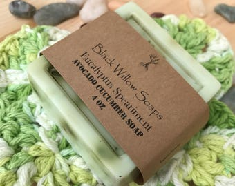Eucalyptus Speariment Homemade Soap, 4 ounce bar, handmade soap, gift for her, gift for women, bar soap, natural soap