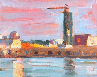 Docks from Coronado, San Diego Painting