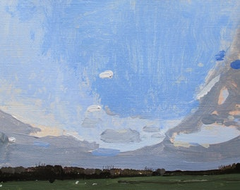 Passage #2, Easter, Original Spring Landscape Painting on Paper, Stooshinoff