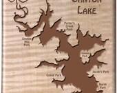 CANYON LAKE River Map Fly...