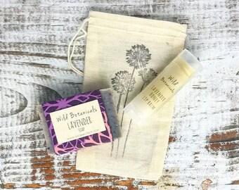Gift Set, Mini Soap, Lip balm, Bridesmaid Gift, Birthday Gift, Stocking Stuffer, Gift Under 10