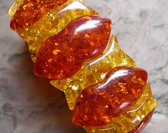 Chunky, Bold Vintage Amber Bracelet