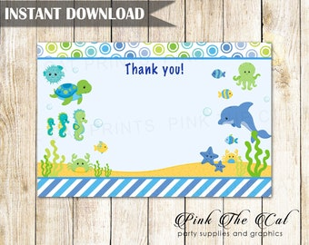 Superhero Thank You Card, Superheroes Thank You Note, Superhero Baby Shower Thank You Card, Fill In Card Baby Super Heroes INSTANT DOWNLOAD