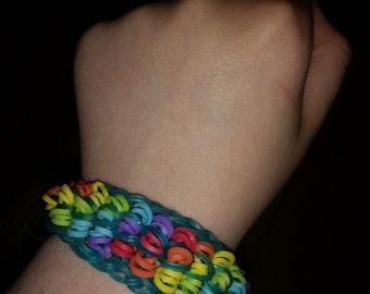 Rainbow Rainbow Loom Bracelet