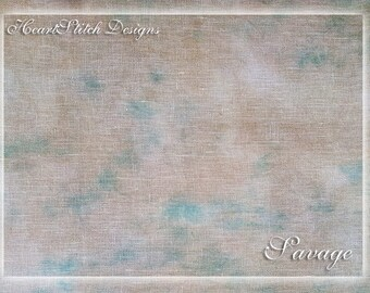 Savage - hand dyed linen/aida/evenweave