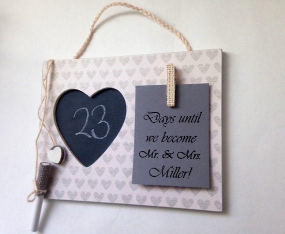 Countdown To Wedding Gifts: Engagement Party Gift Wedding Countdown